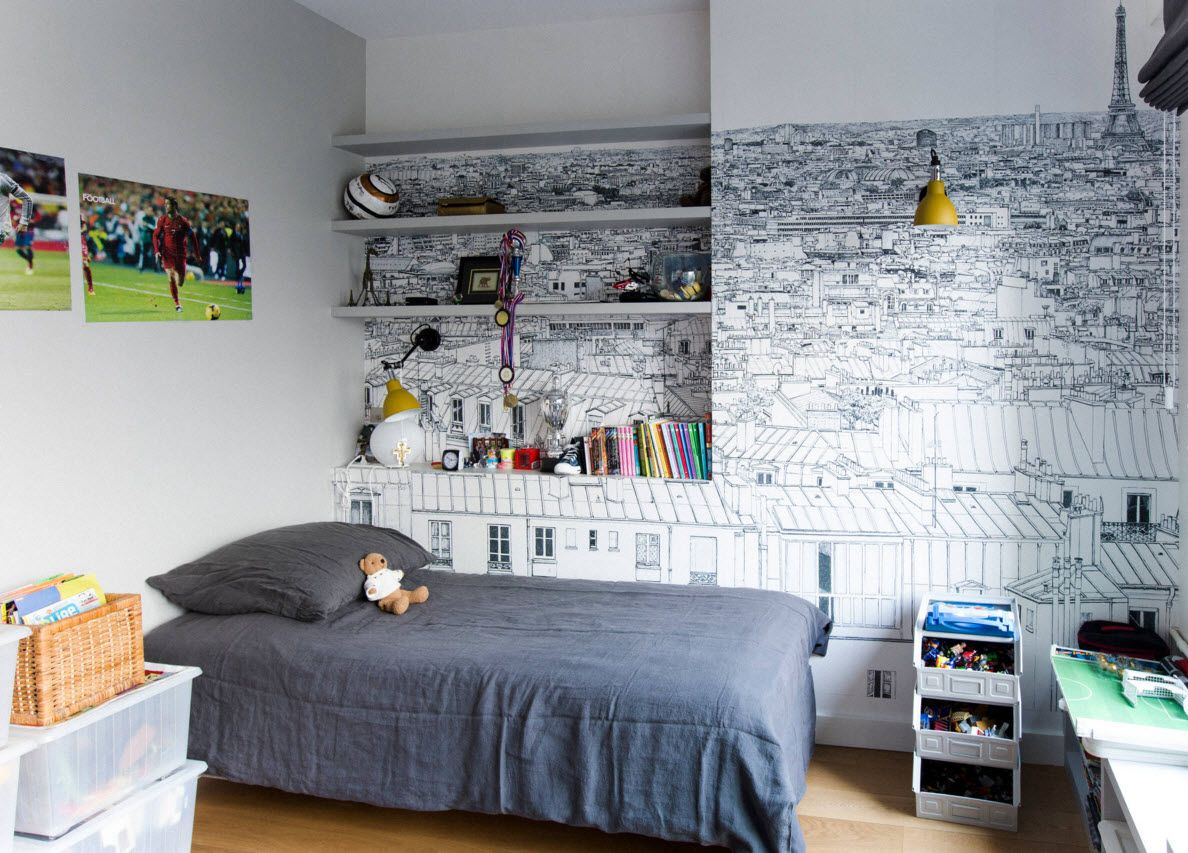 Boy's Room Design Ideas for every Age and Situation. Gray color solution