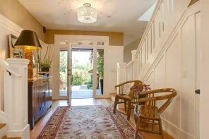 Original Modern Entryway Furniture Photo Collection. Rattan wicker armchairs right at the entry