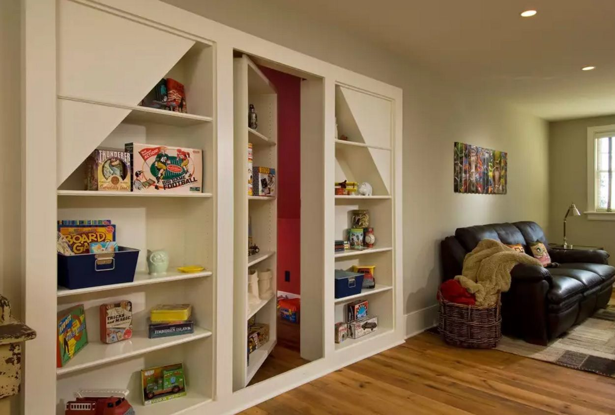 Secret Rooms with Hidden Doors Modern Design Ideas. Secret Child's room entrance in the living