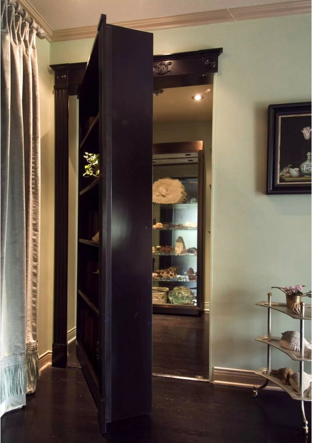 Secret Rooms with Hidden Doors Modern Design Ideas. Massive wooden cabinet is the entryway to the boudoir