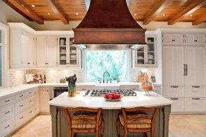 The Main Types of Kitchen Hoods. Photo Gallery and Description. Dome extractor above the island