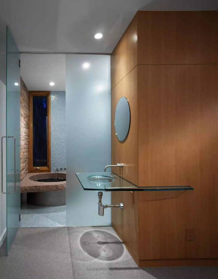 absolutely stunning design solution for the futuristic and hi-tech styled bathroom