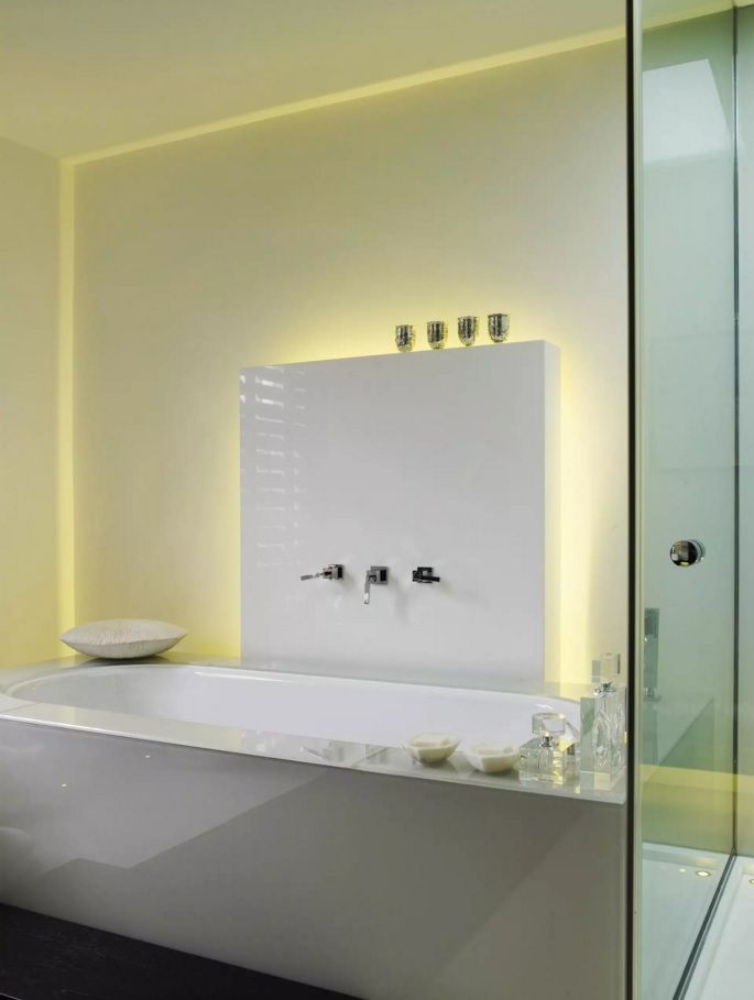 Absolutely futuristic and mind blowing design of the tap protruding out of the mirror and sink