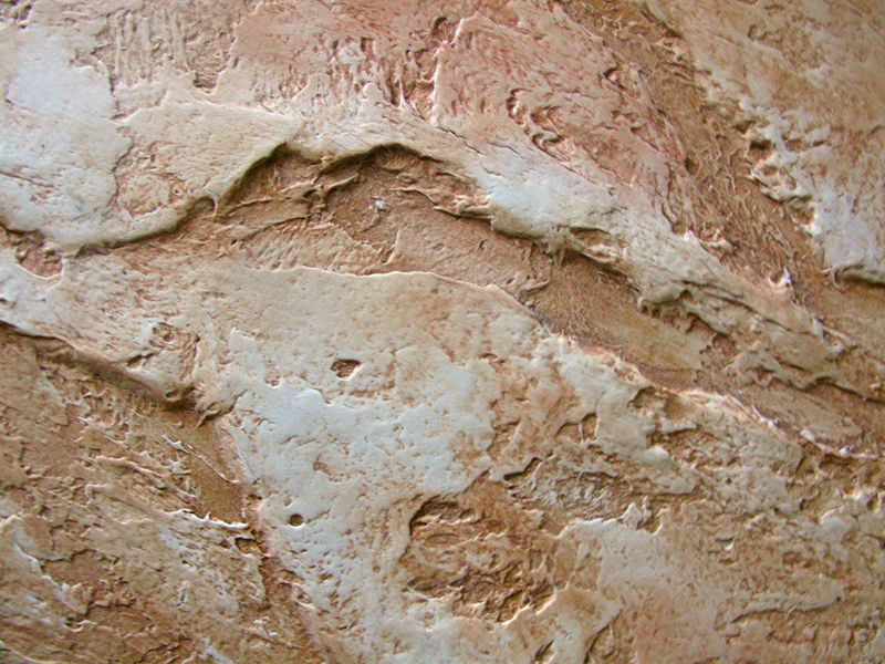 Main Types of Textured Plaster. Close-up after application on the wall