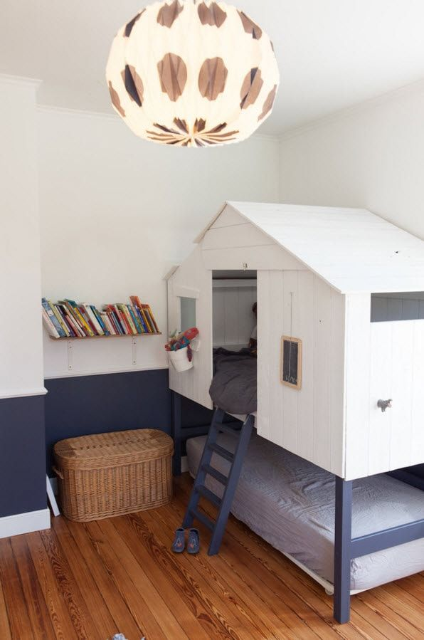 Design Examples of Small Kids' Rooms for Boys Decoration. Idea of creation of the real improvised house for your boy