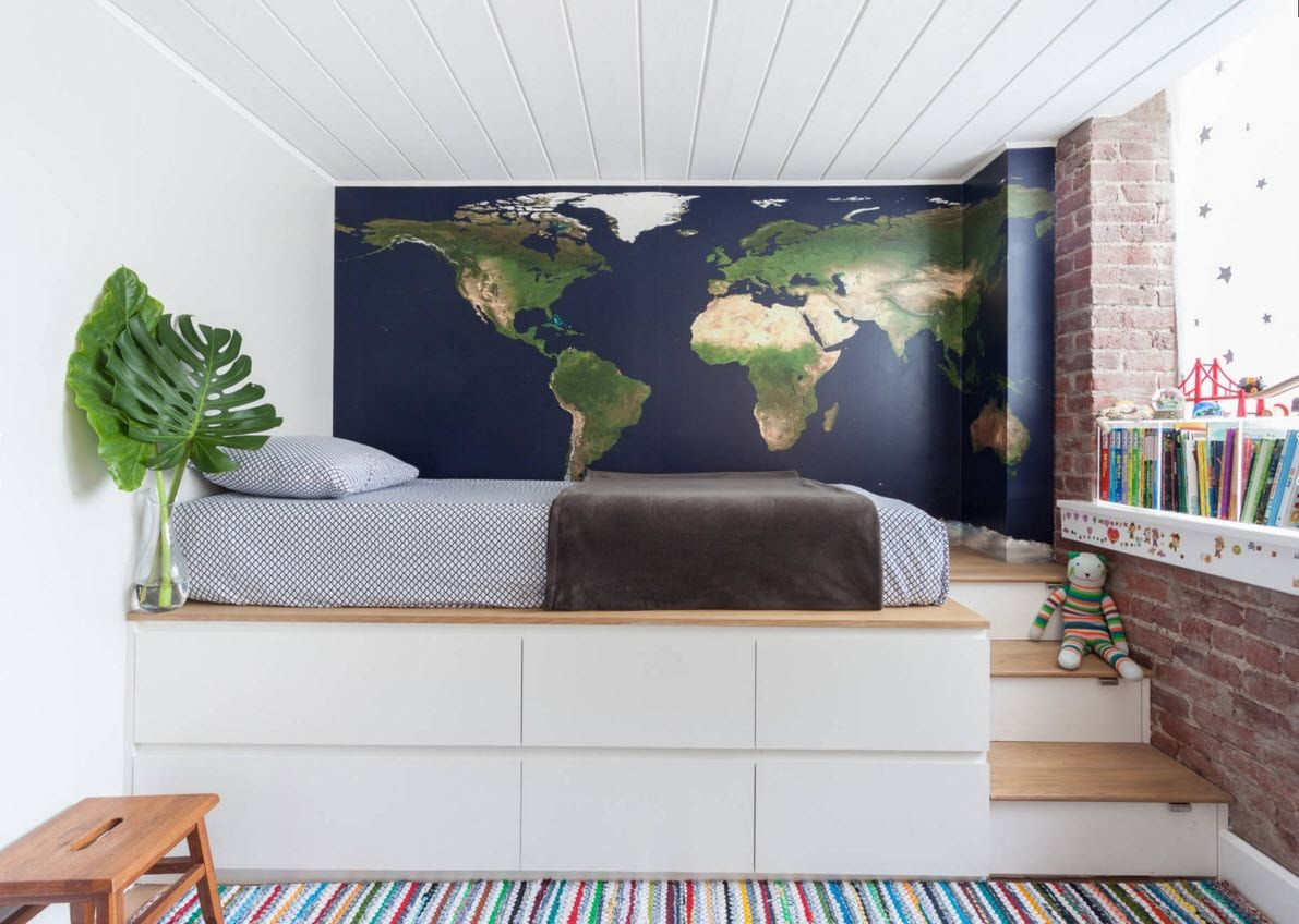 Design Examples of Small Kids' Rooms for Boys Decoration. The designers bed for young adventurer