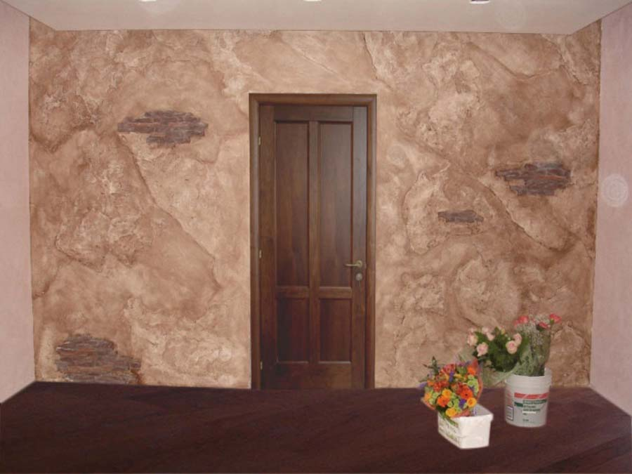 Main Types of Textured Plaster. Application in the entry is full very successful