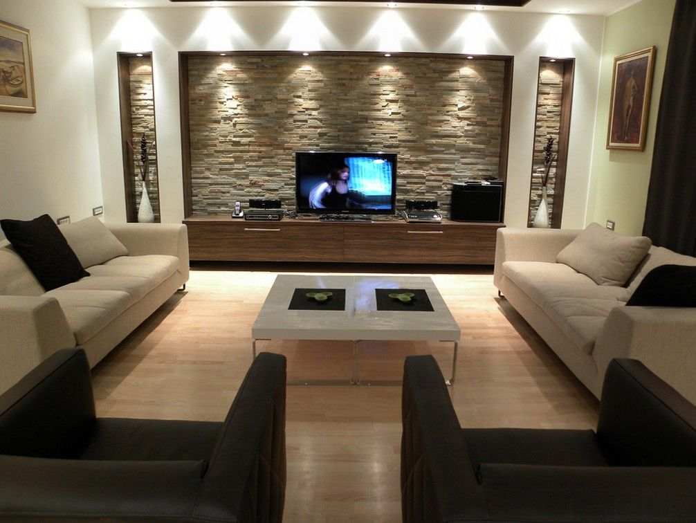 Stone decorated home theater for all the family