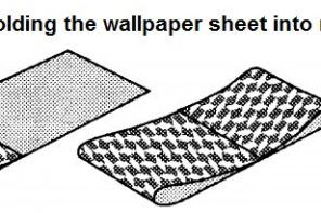 Preparing for DIY Wallpapering Advice. Folding the wallpaper sheet