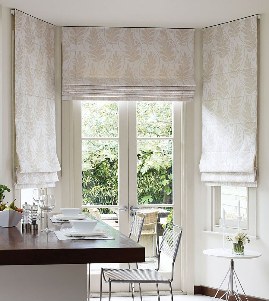 Kitchen Curtains Design Photos, Types and DIY Advice. Cassette mechanism of the top fastening