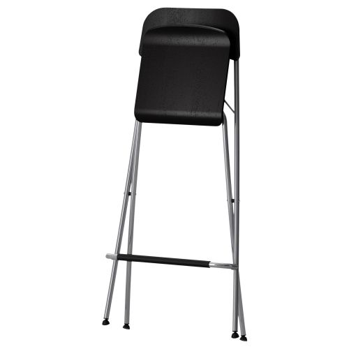 Folding Chairs As A Kitchen Interior Functional Decoration. Chromed Frame  Of The IKEA Bar Stool
