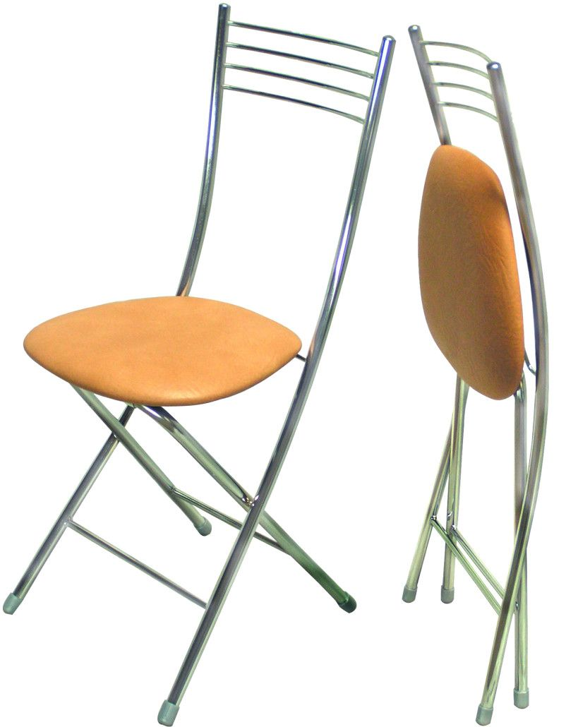 Folding chairs in two conditions