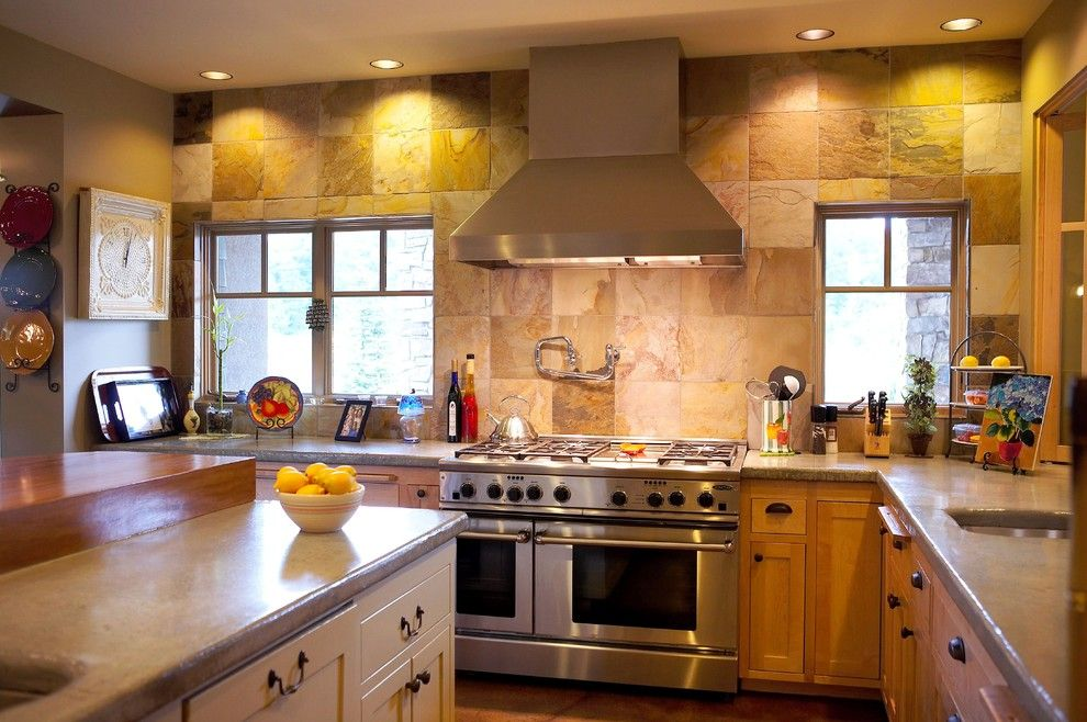 Top 7 Most Popular Materials for Wall Finishing. Large tile for the finishing of the splashback zone in the kitchen