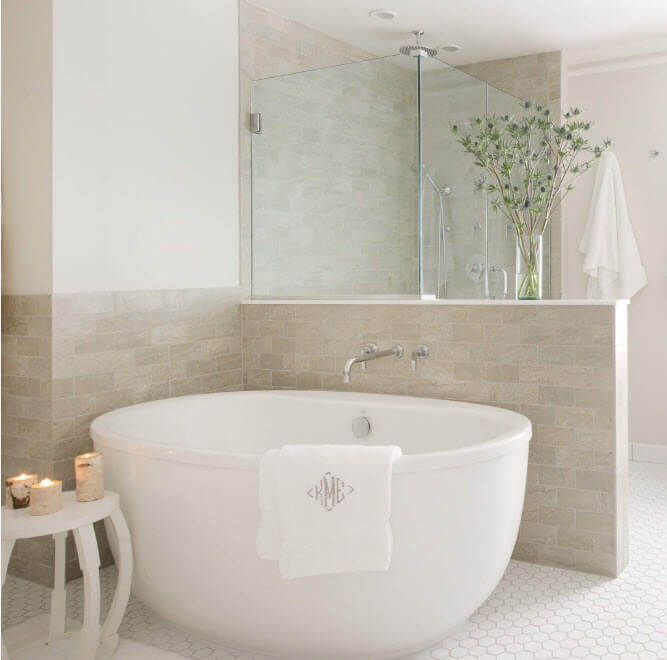 All tones of gray in the modern bathroom