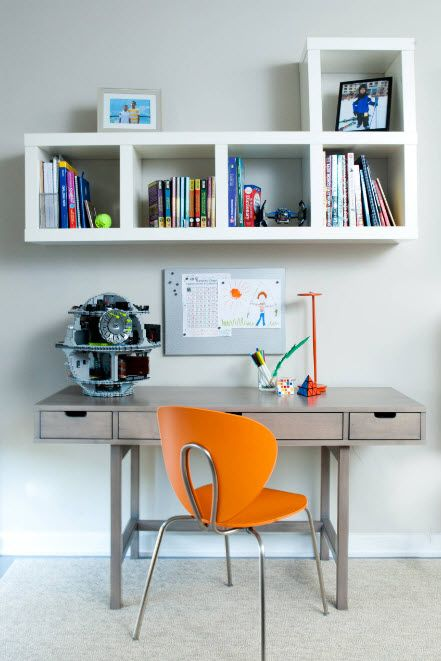 Orange stool for the creative young student