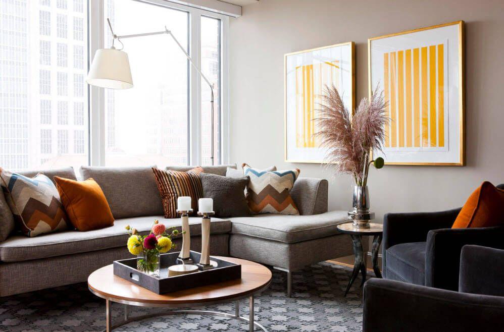 Remarkable design for the classic living room full of natural light
