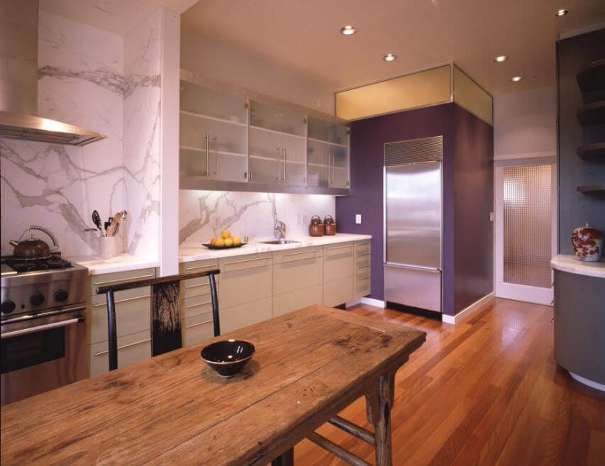 Futuristic kitchen design with a real mix of design ideas and natural materials