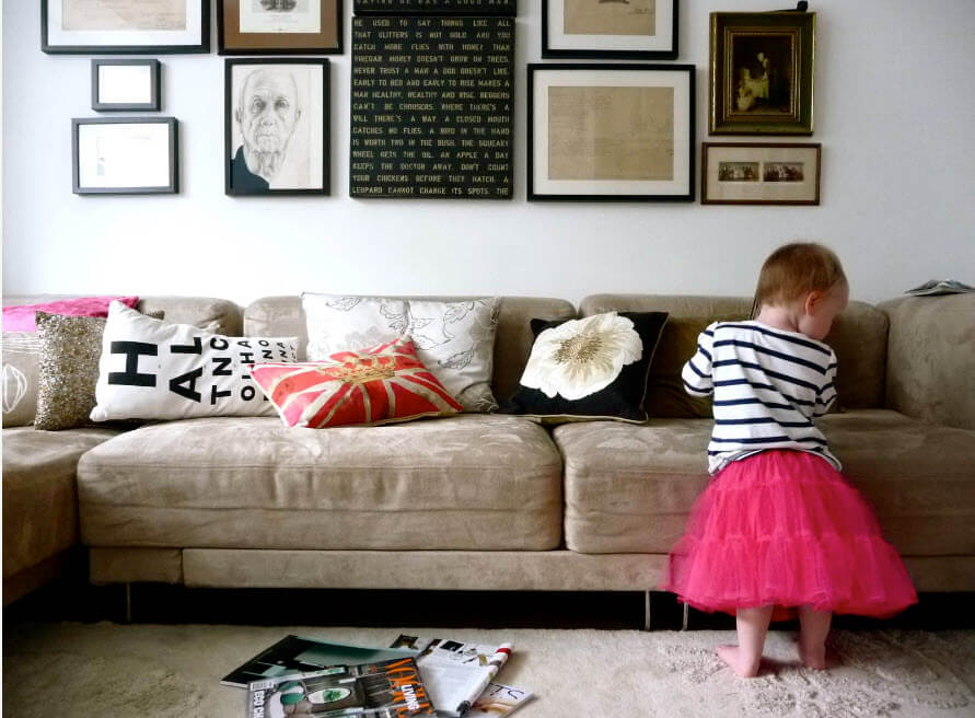 Decorative pillows is a nice play for the little kids