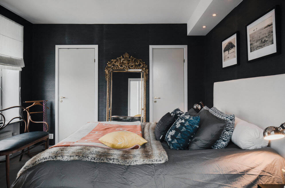 Dark alternative wall paint for the classic interior