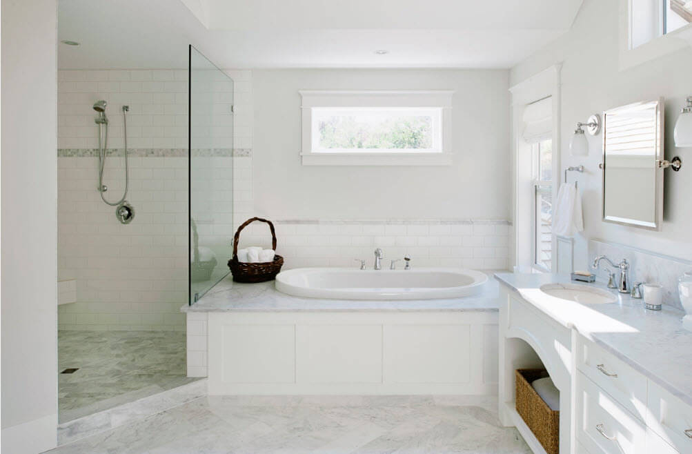 small 4 piece bathroom. white light bedroom idea for the private house with shower cabin and Jacuzzi Bathtubs Description  Photos Design Ideas