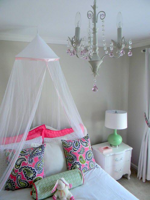 Tender design of the girls' room