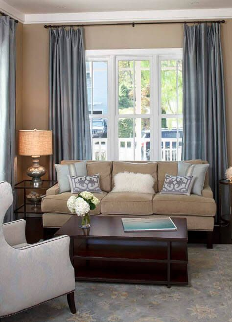 Nice mix of soft colors in the living room for adults