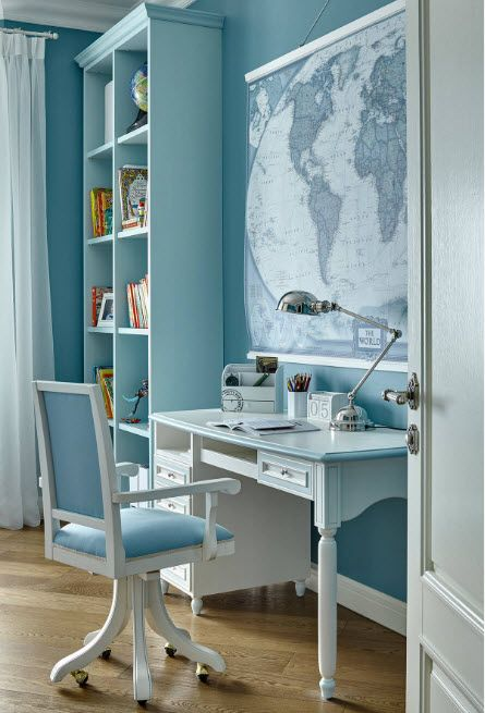 Tender mix of the colors for the small but omnifunctional room