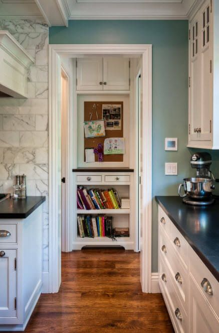 A little intelligent nook with books at the kitchen