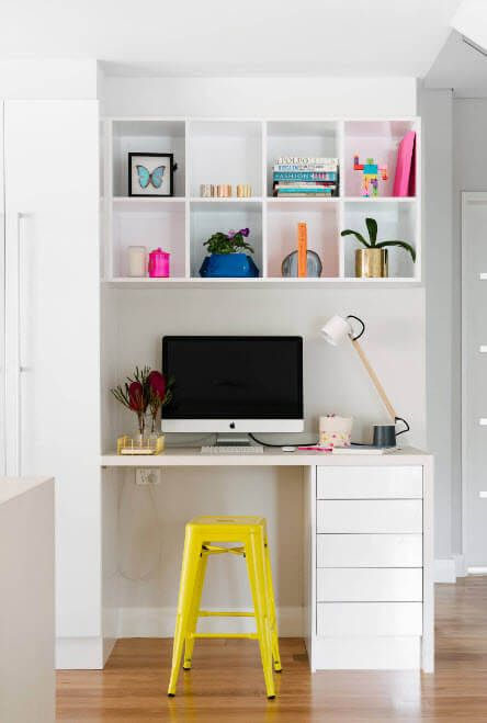 Amazing union of color within single children's room with white basic tine