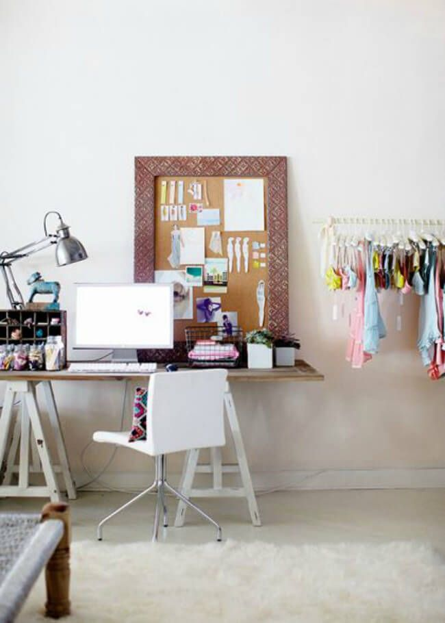 A working business zone right at the wardrobe