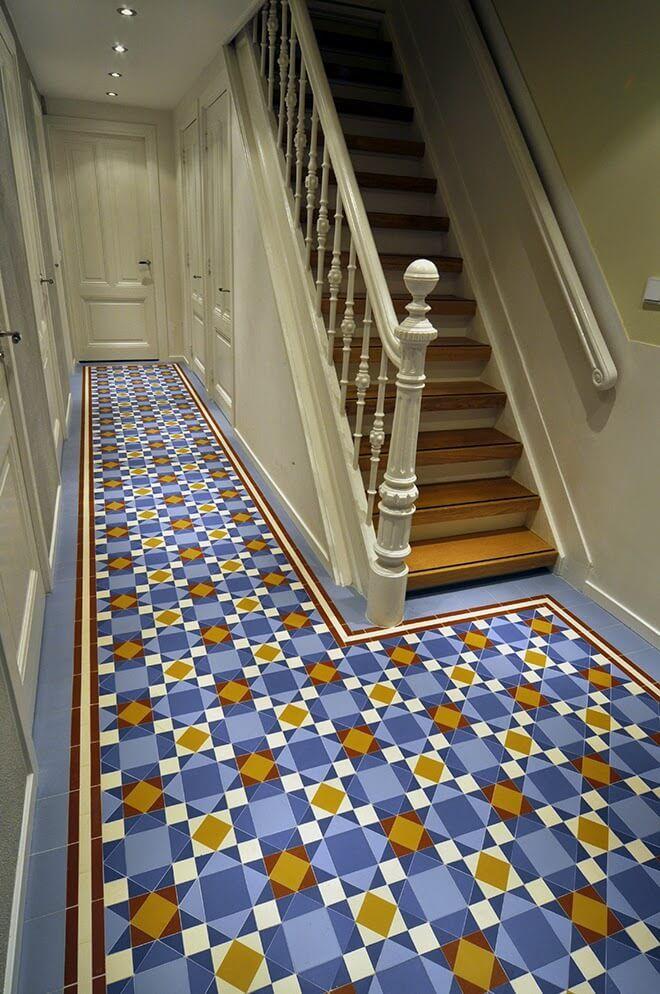Nic mosaic floor near the stairs