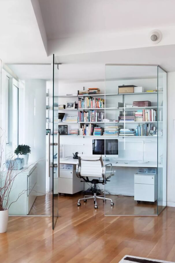 Original Home Office Interior Design In Your Apartment A Functional Wall Among The Living Room