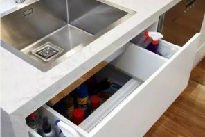 Mortise sink and the folding drawer