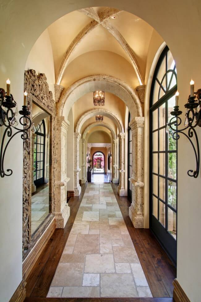 Mediterranean luxury and the sand colored tile