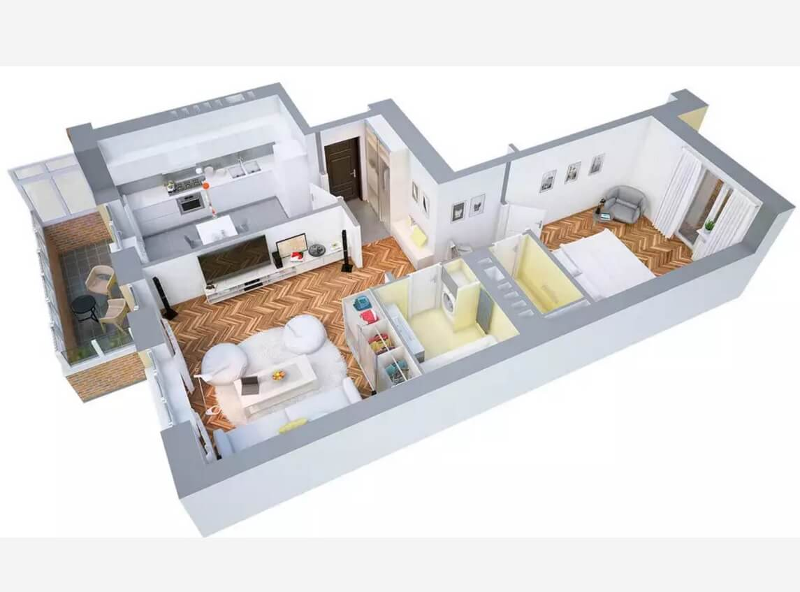 modern apartments and houses 3d floor plans different models one bedroom modern apartments and houses 3d floor plans different models