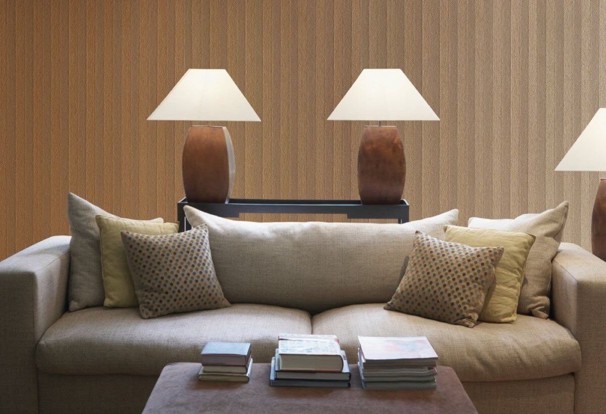 Fiberglass wallpaper within modern interior
