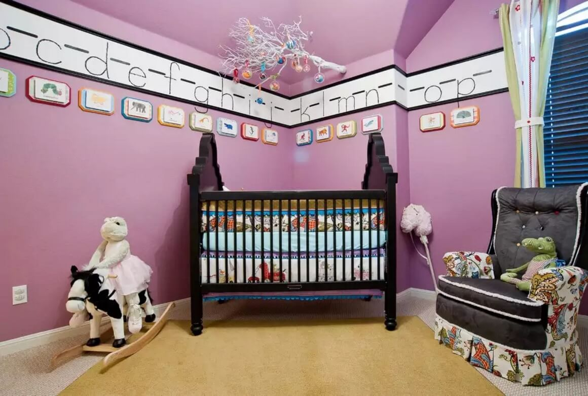 Nice idea of the frieze in the child's room