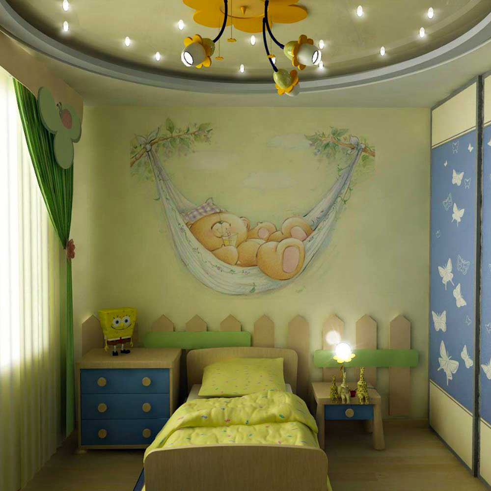 Photowallpaper Interior Design Ideas with Photos in the child's room