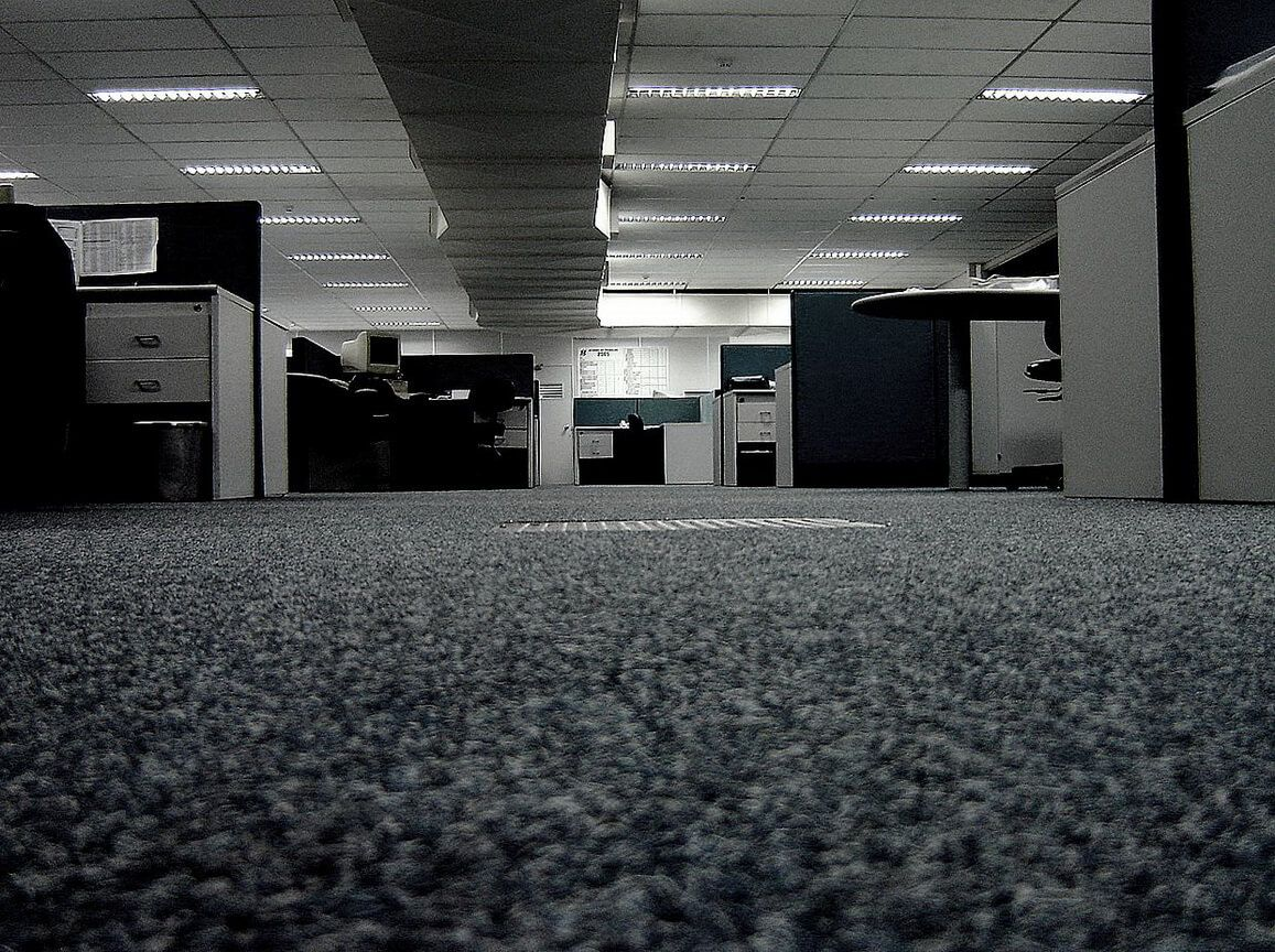 Carpeting Description, Types, Properties and Choosing Advice for office in the dark tones of decoration