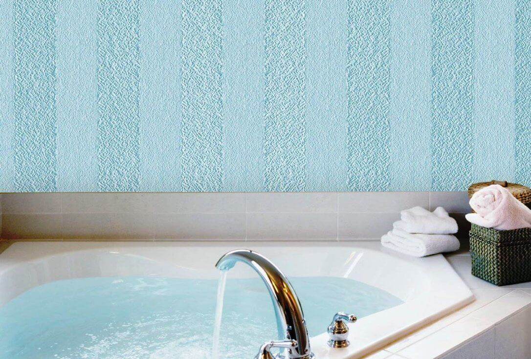 Universal Fiberglass Wallpaper for Any Room of Your Apartment can be applied even in the bathroom