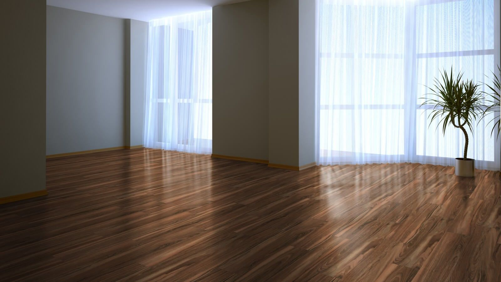 Laminate Floor Finishing Types, Description, Properties. The high-gloss laminate in the large living room of private house