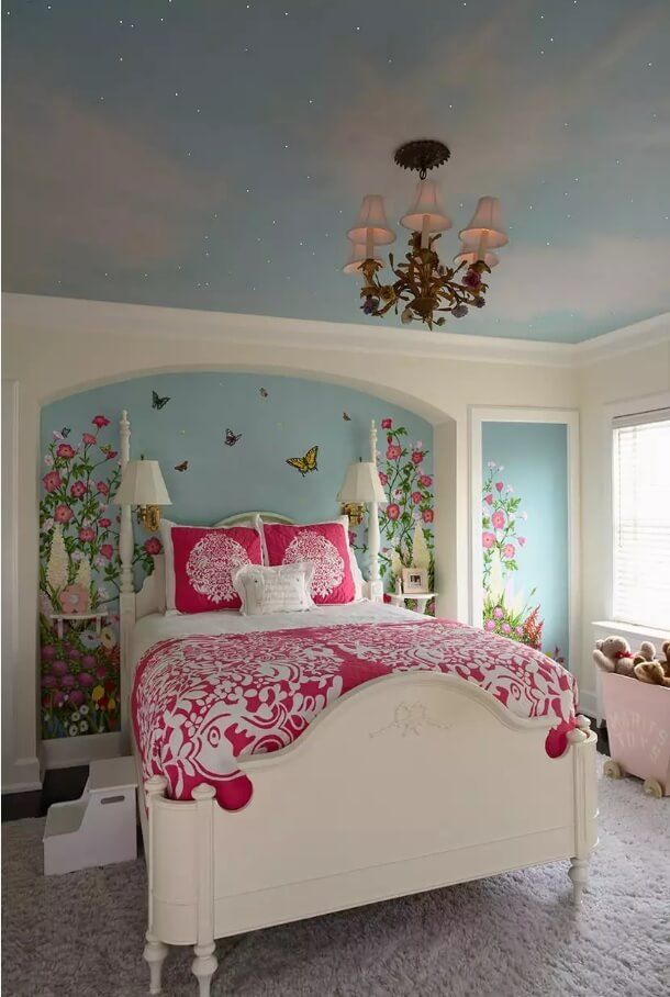 Ceiling Paint Interior Finishing Design Ideas as Nice Budget Option. Bluemarin soothing effect for the child's room