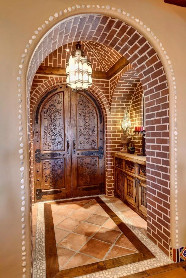 Carved Wooden Door As Piece Of Art In Your Interior