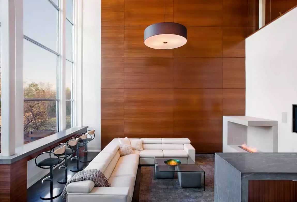 Leather Sectional Sofas to Complete your Living Room Image. Modern design of the studio lobby in the private house