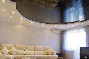 Stretch Ceilings: Types, Advantages, Disadvantages and Photos. Spectacular mirroring surface of the PVC ceiling