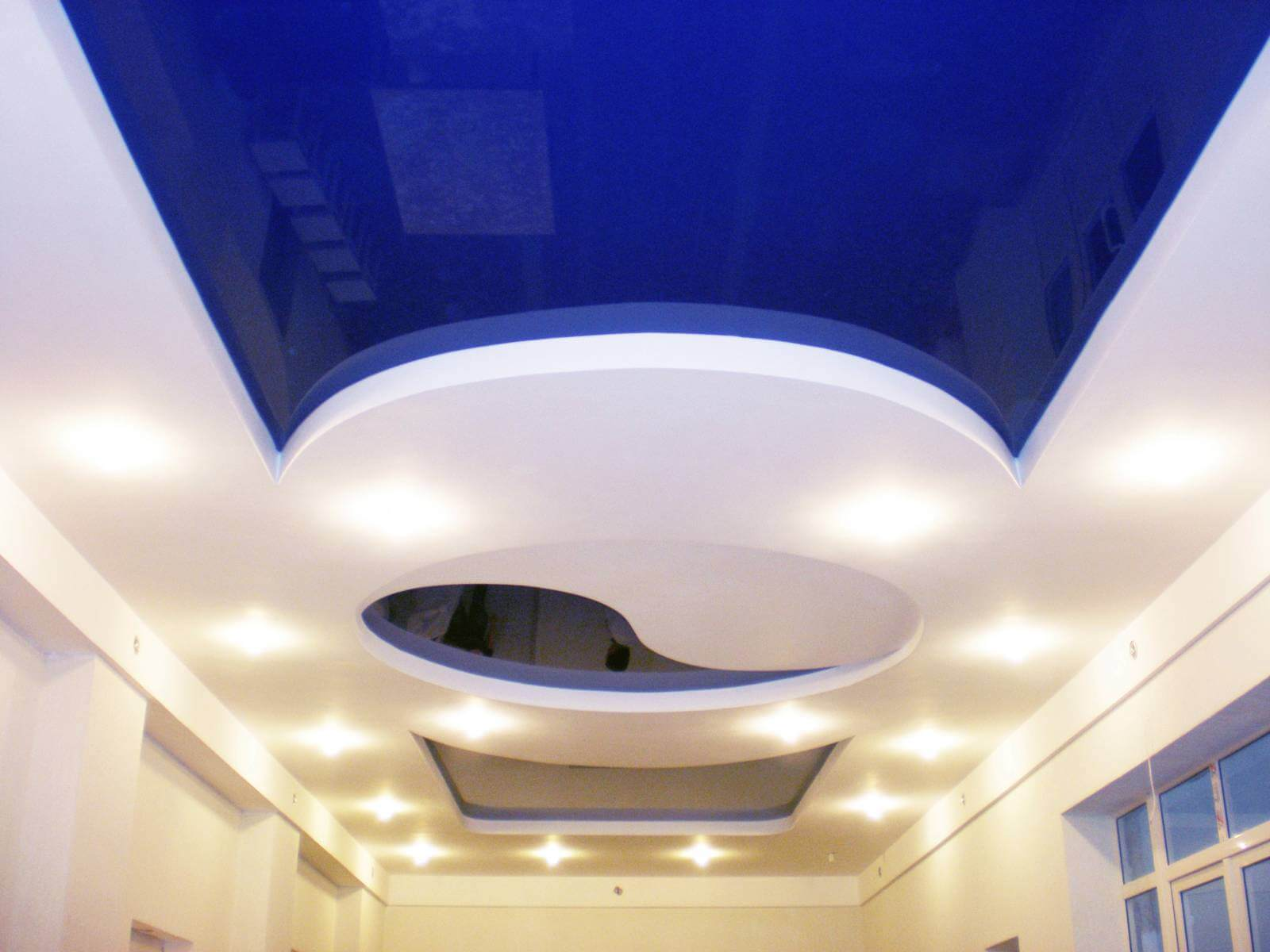 Combined Stretched Suspended construction of the ceiling
