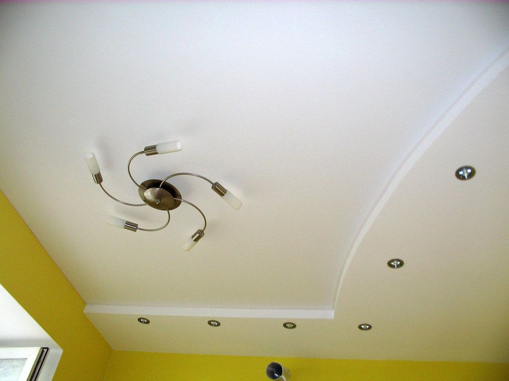 Plasterboard Ceiling Finishing Design Ideas for Apartment. Effective mere design for the living
