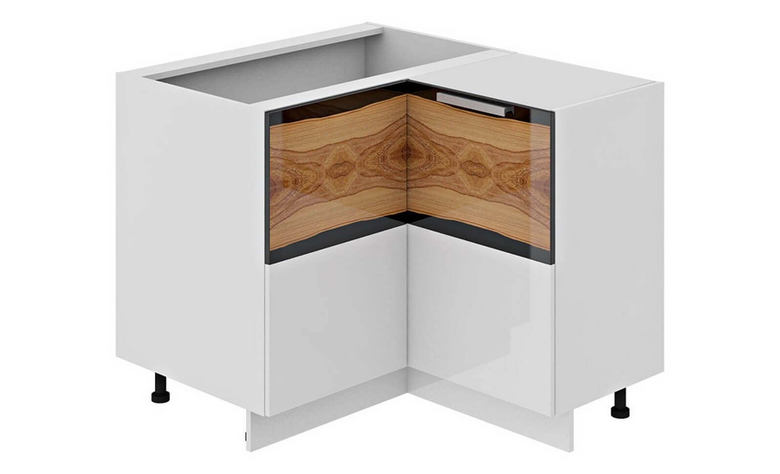 10 Kitchen Custom Custom Cabinets for Unique Functional Interior. Corner cabinet visualisation