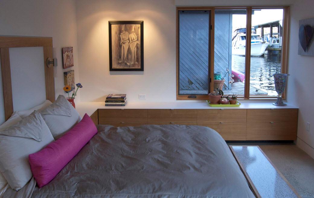 Corner Cabinet Types for Modern Bedroom Interior Design. comfortable sleeping space in modest arranged room