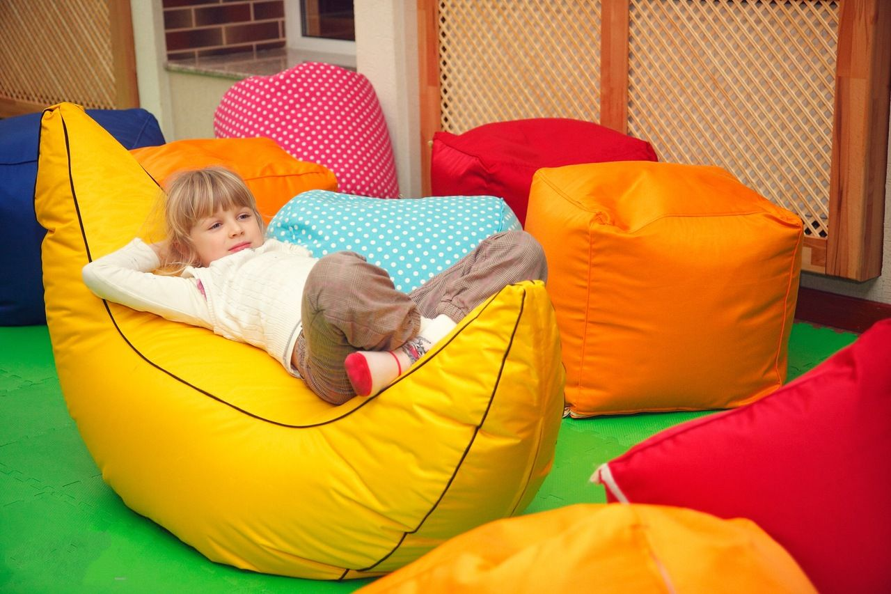 Banana formed bean bag for kids